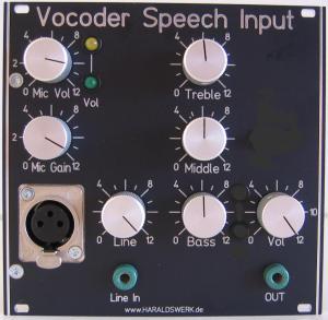 Vocoder Speech Input www haraldswerk de