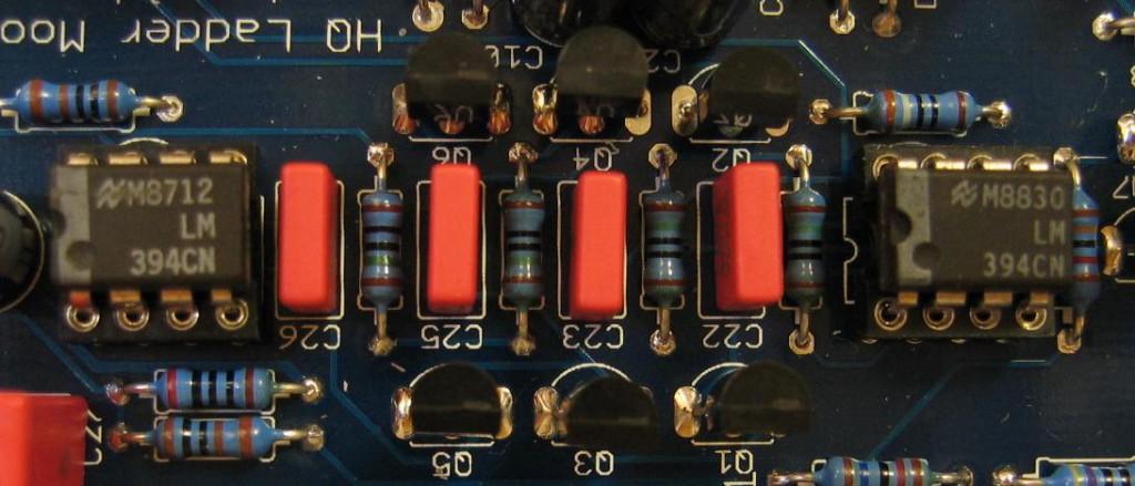 Moog Ladder Filter LM394 closeup