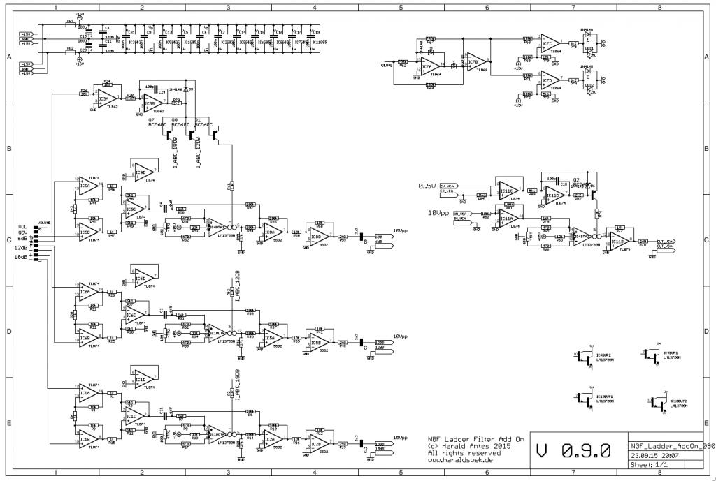 Moog Ladder Add On schematic