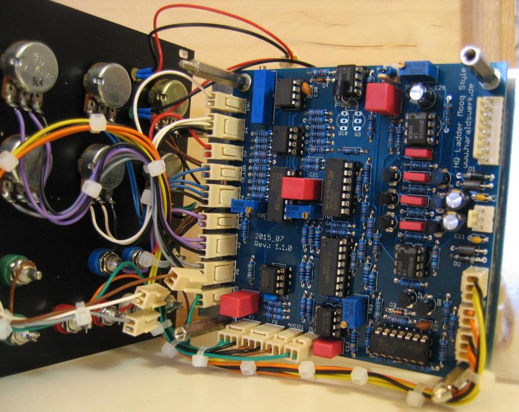 Moog Ladder Filter basic PCB mounted