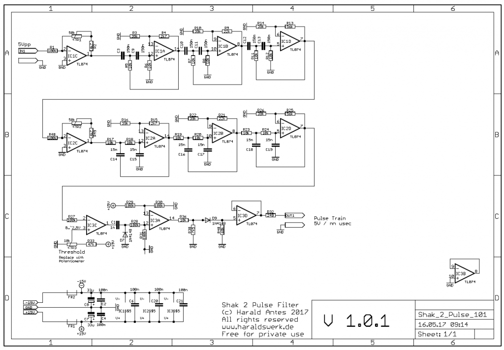 Shakuhachi 2 Synth Project: Shakuhachi 2 pulse schematic