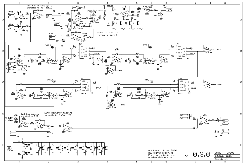 NGF-E Project: 24dB LP / HP VCF schematic