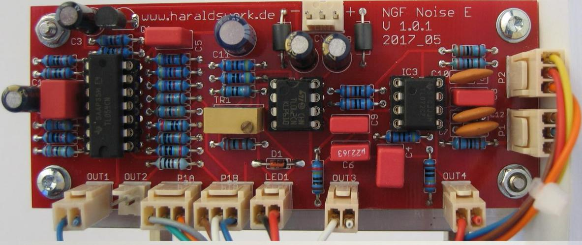 NGF-E Project: White and coloured noise, random voltage PCB