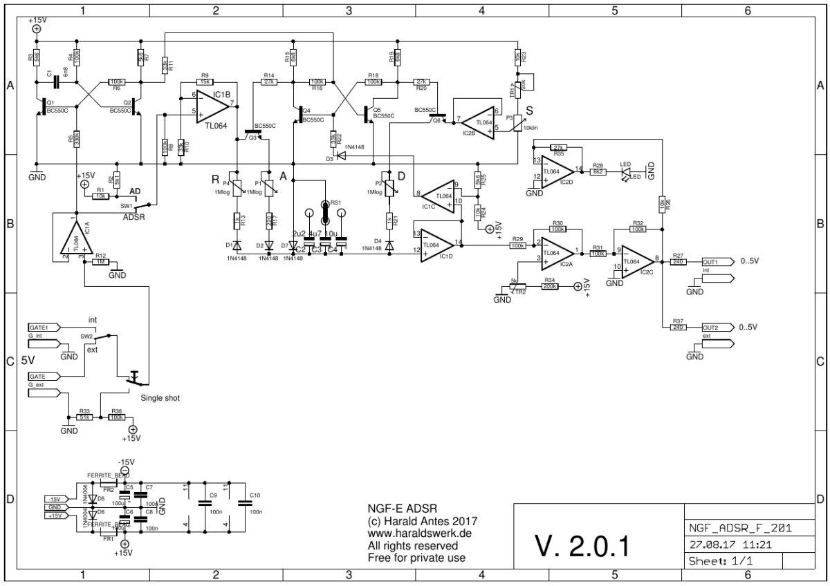 Voclog Analog Synthesizer Diy Page 4 Envelope Follower Schematic Ngf E Project Adsr