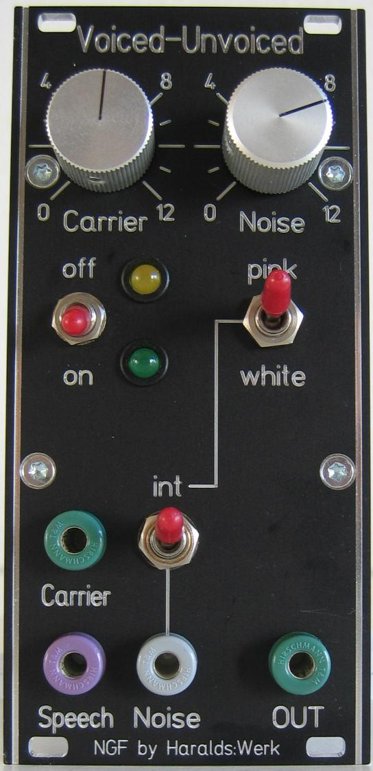 NGF Vocoder Project: Voiced - unvoiced detection faceplate