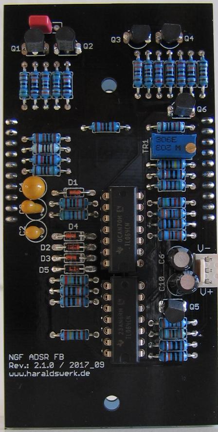 NGF ADSR flat back PCB populated