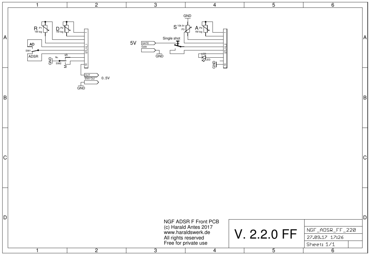 NGF ADSR flat front PCB populated