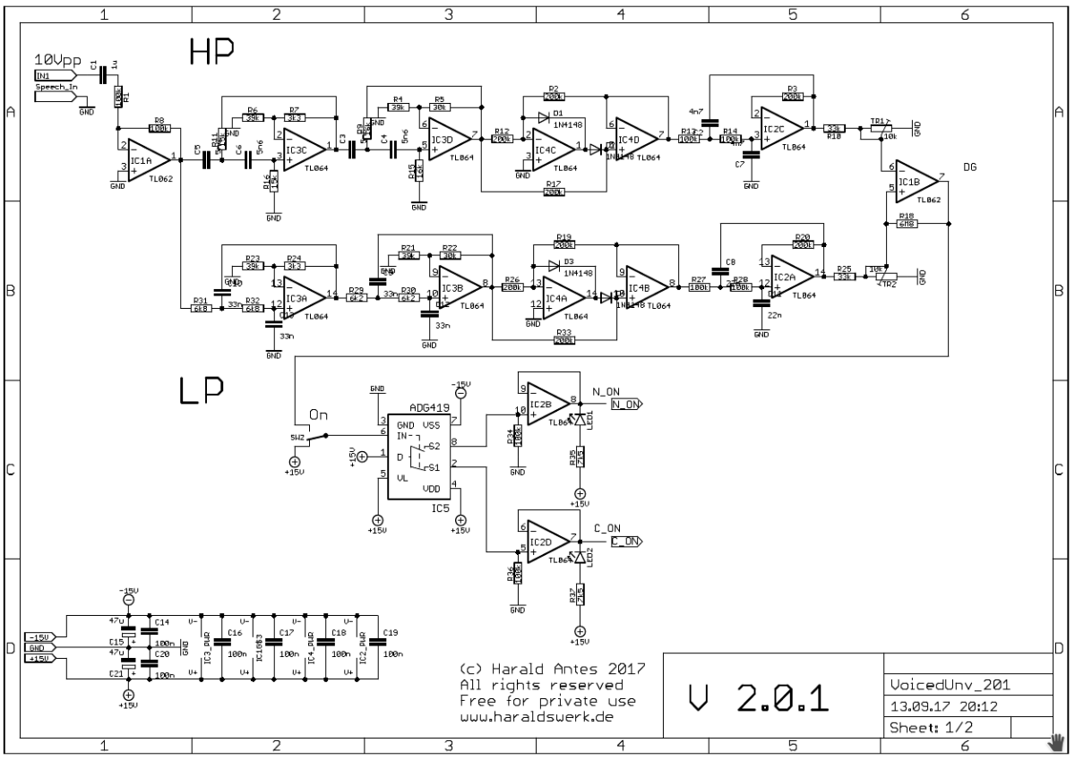 NGF Vocoder project: Voiced - unvoiced detection schematic 01