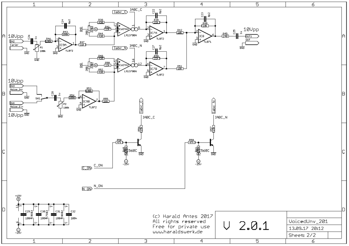 NGF Vocoder project: Voiced - unvoiced detection schematic 02