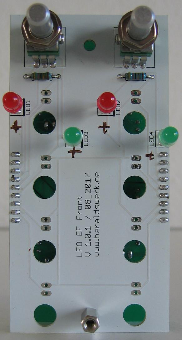 LFO flat Version populated front PCB