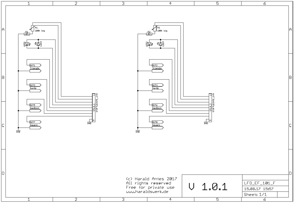 LFO flat Version Schematic front PCB