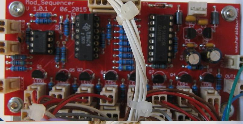 Modulation Sequencer populated PCB