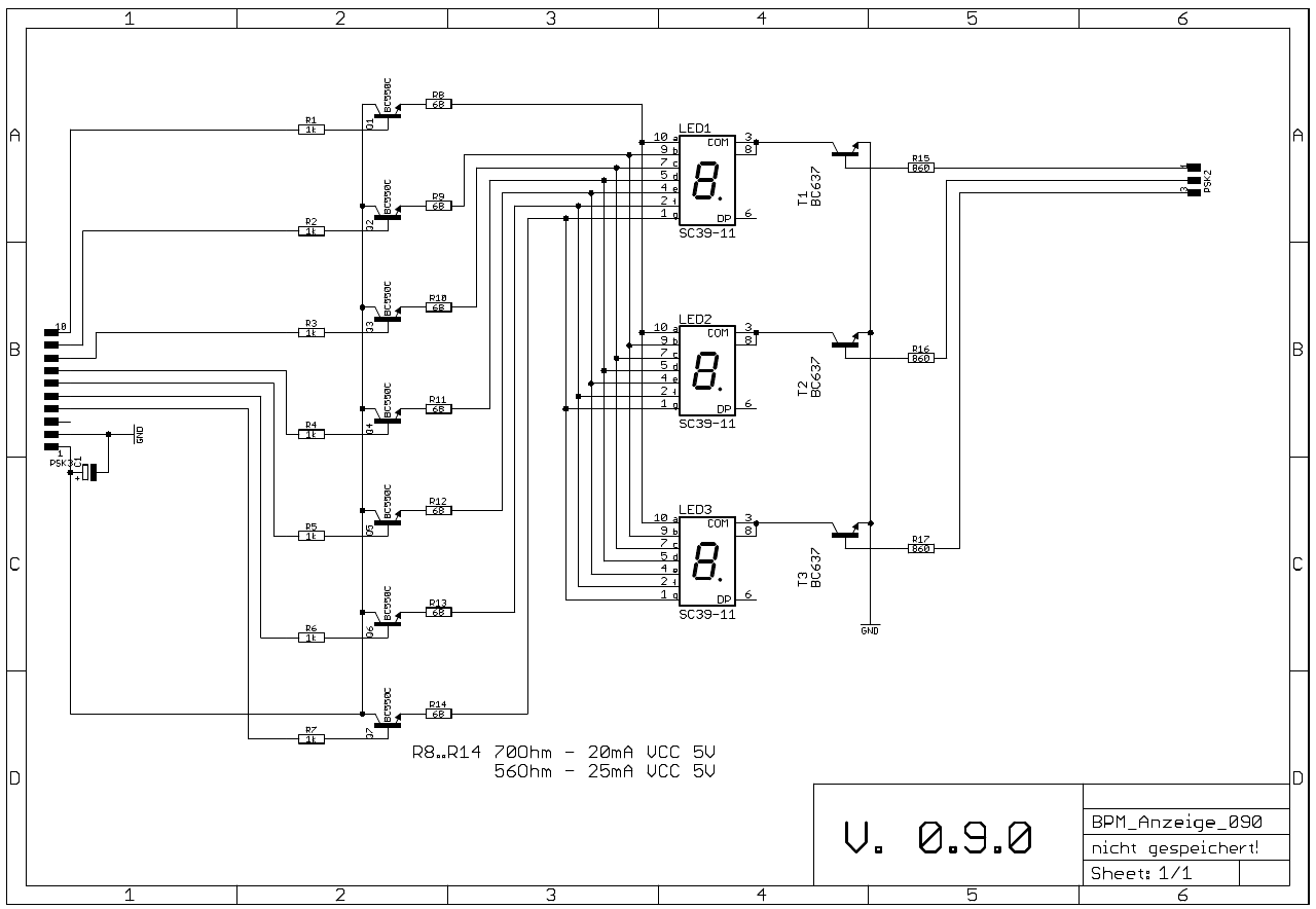 BPM Generator module schematic display