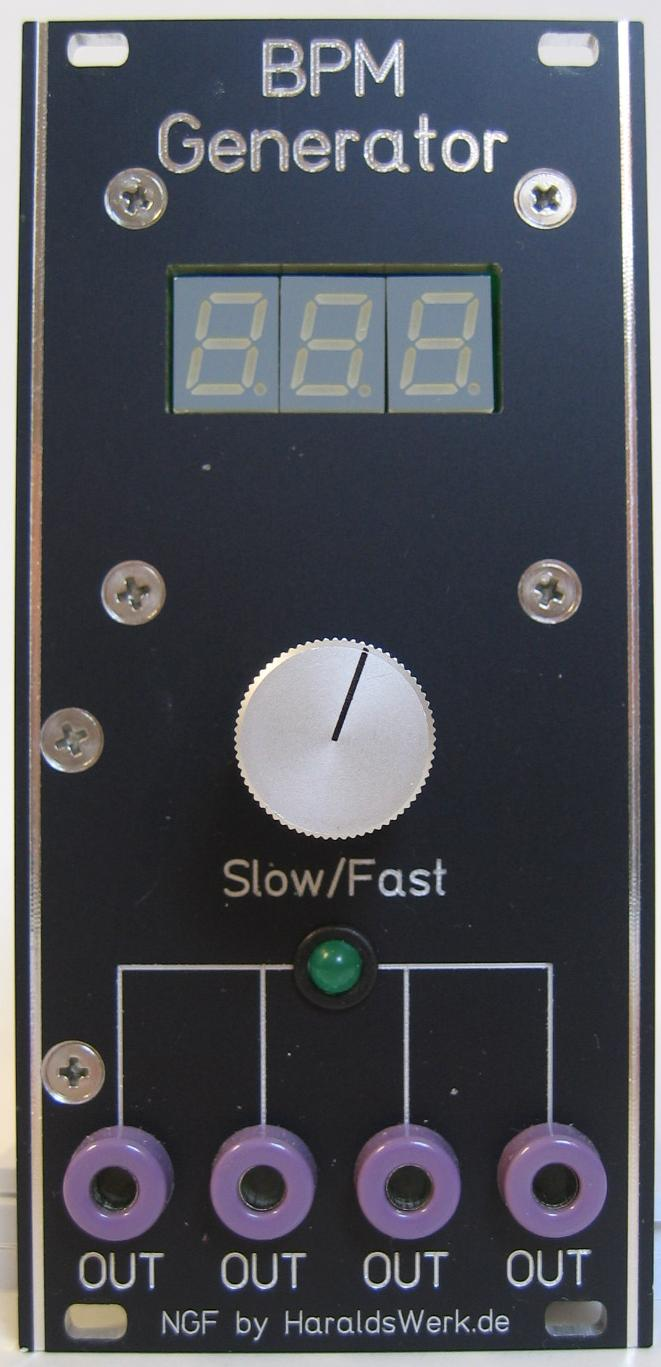 BPM Generator module front