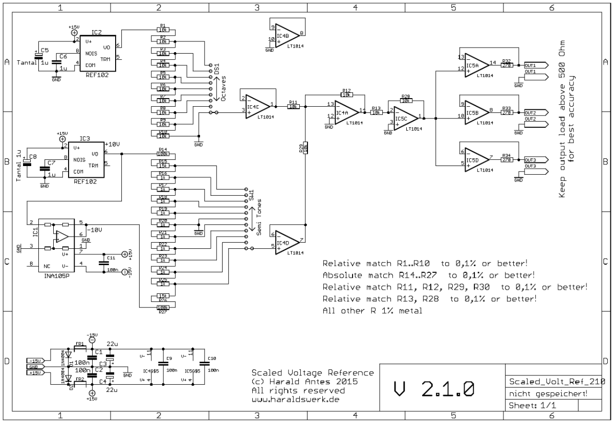 Scaled Voltage Reference schematic