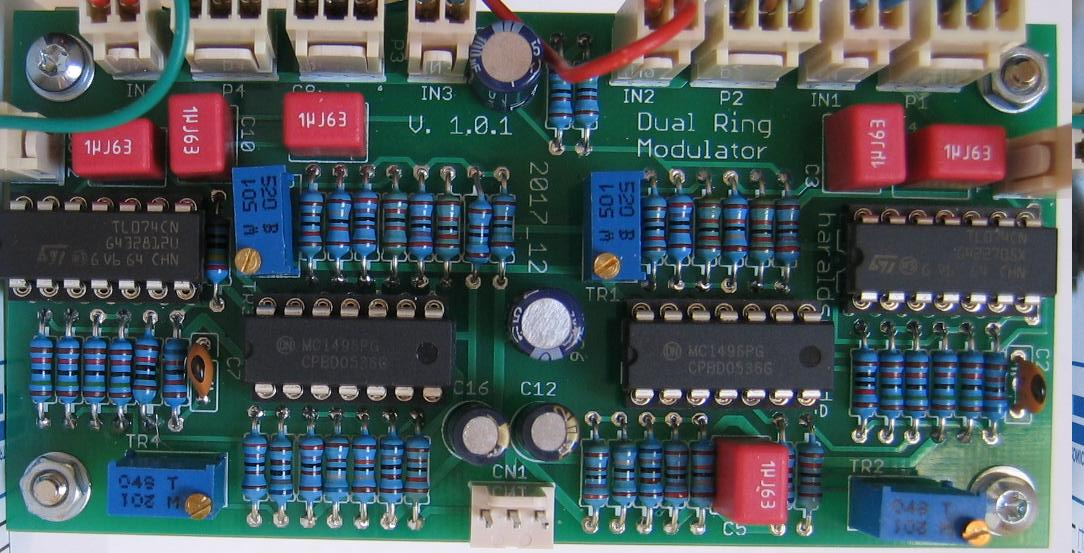 NGF Project: Dual Ringmodulator populated PCB