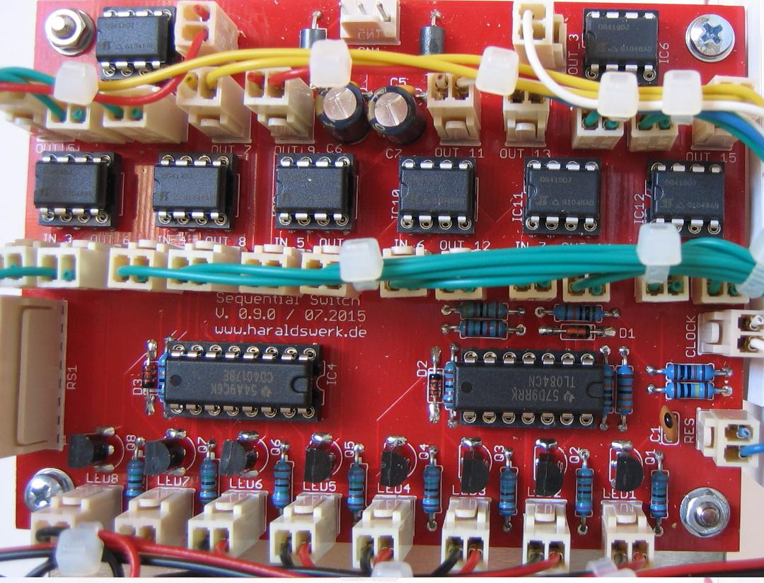 Sequential Switch: Populated PCB