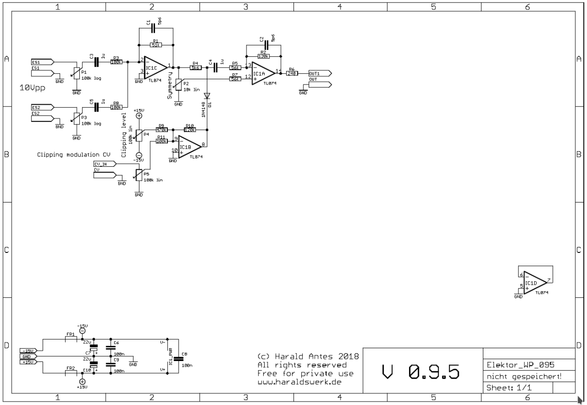 NGF Project: Elektor Wave Processor, schematic
