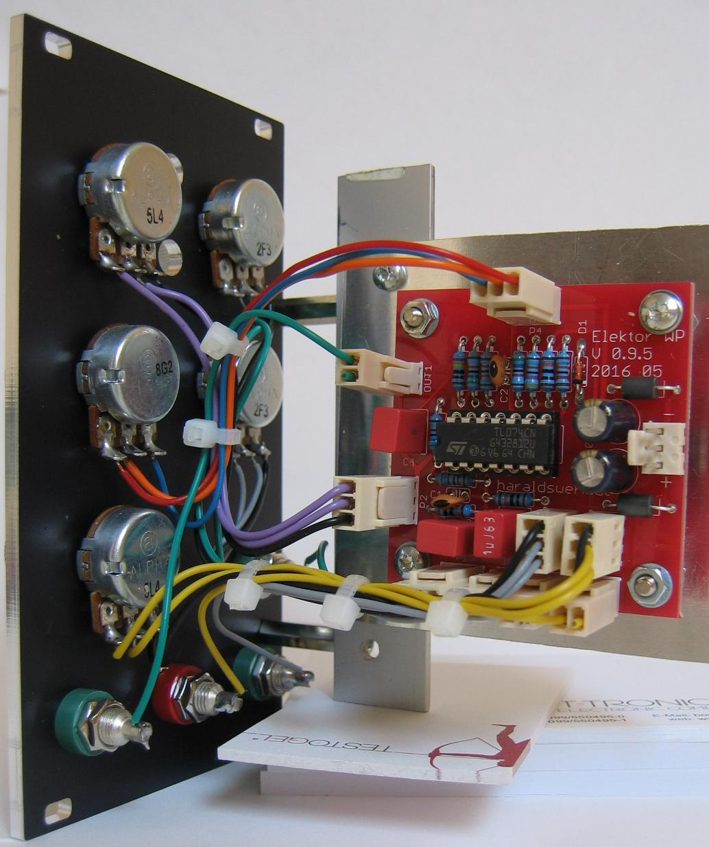 NGF Project: Elektor Wave Processor, rear view