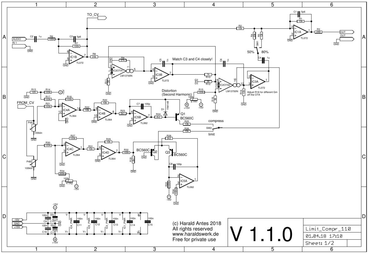 Limiter / Compressor schematic 01