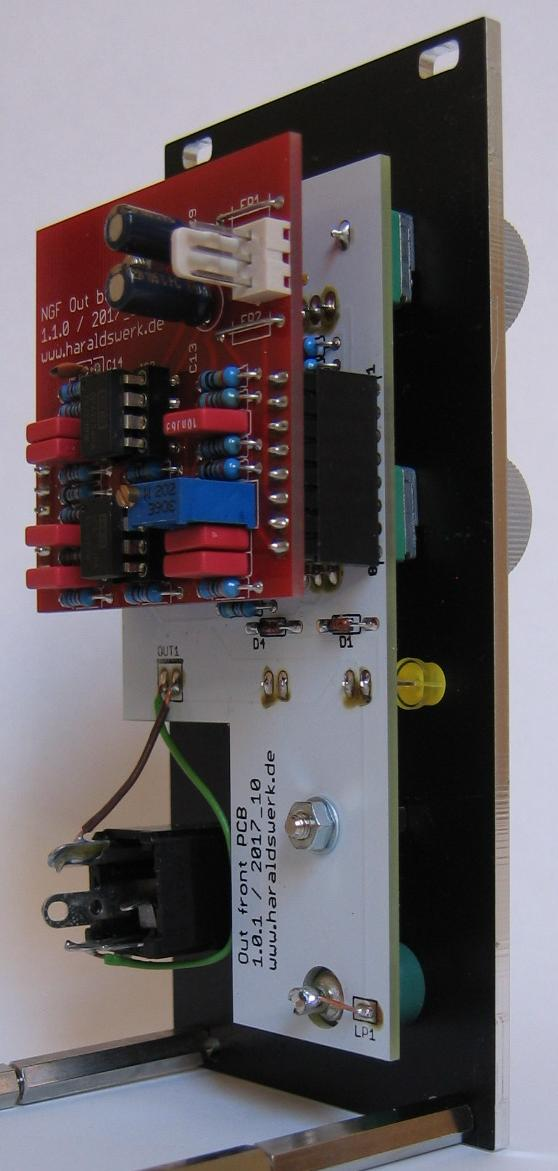 Output Module: Stuffed PCB side view