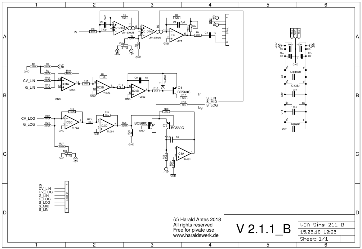 VCA Sims schematic back PCB
