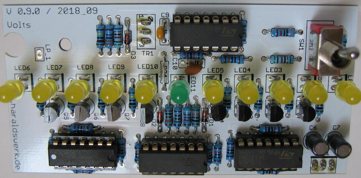 Voltmeter populated PCB