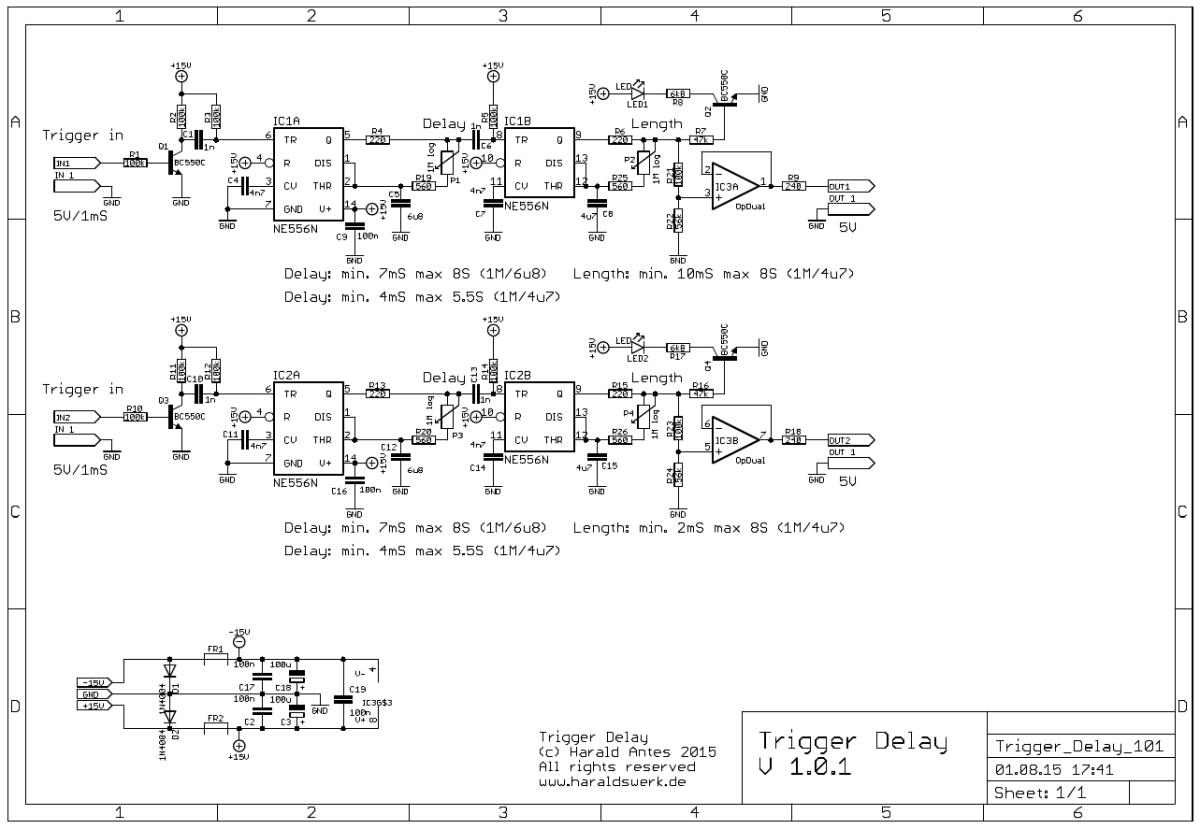 Trigger Delay schematic