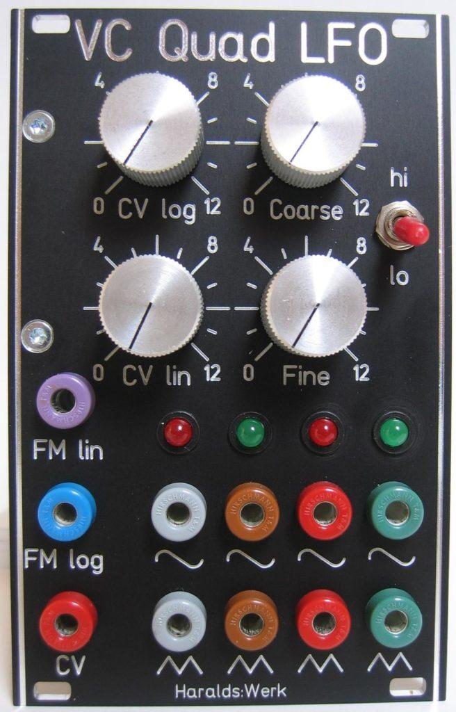 Voltage controlled quadrature LFO front view