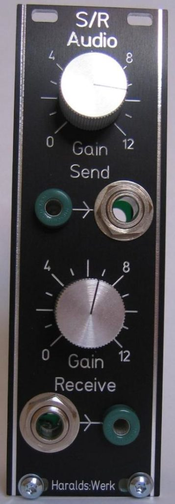 Audio send and receive: Front view