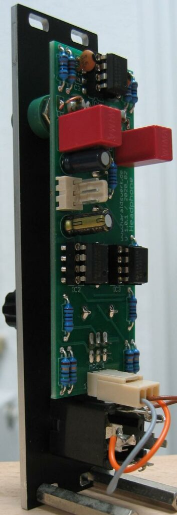 Headphone amplifier back view