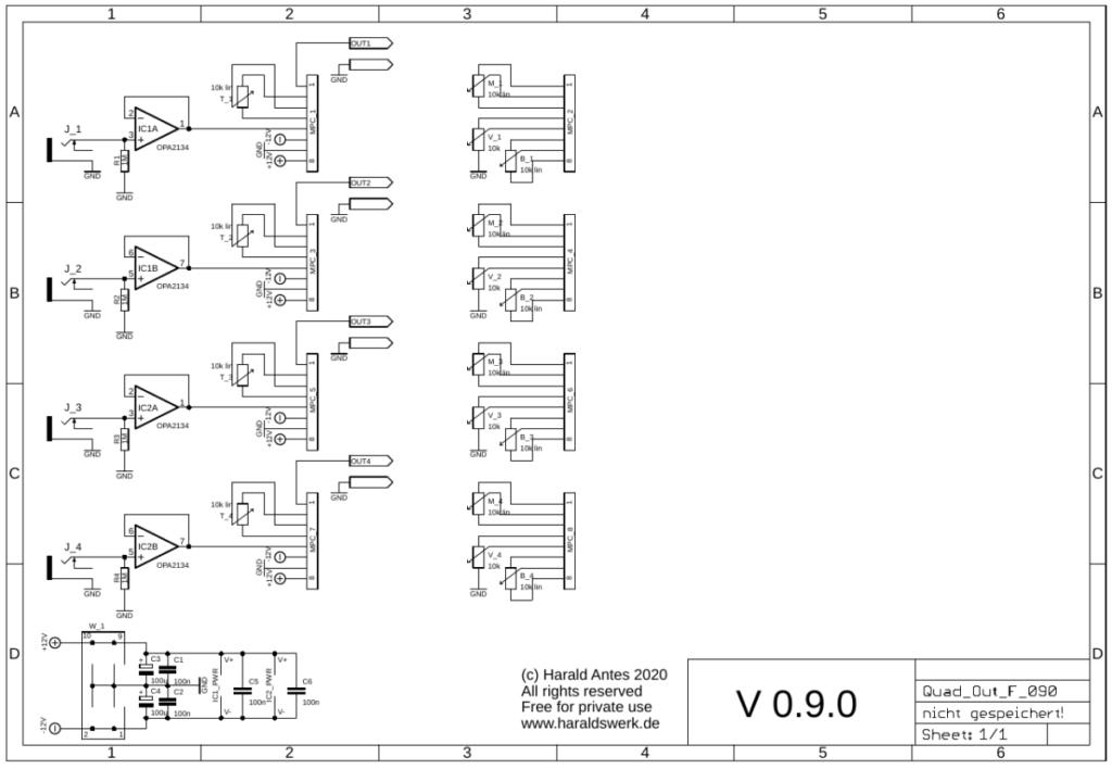 Quad output module schematic control board