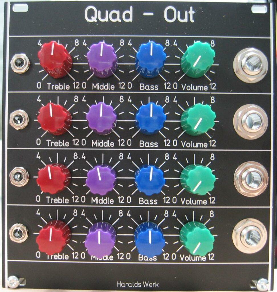 Quad output module