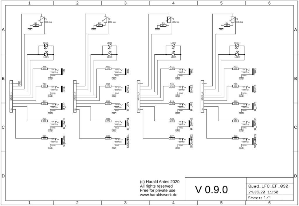 Quad LFO schematic