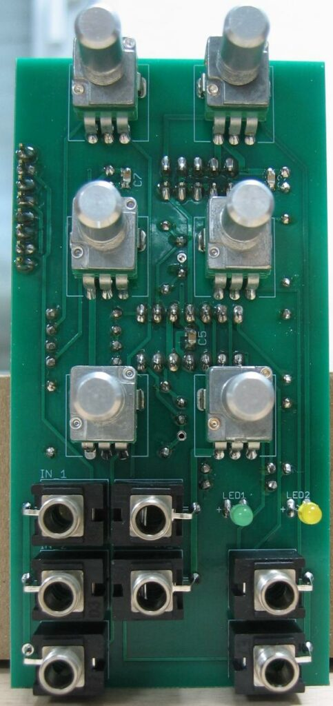 Mixer: Populated control PCB
