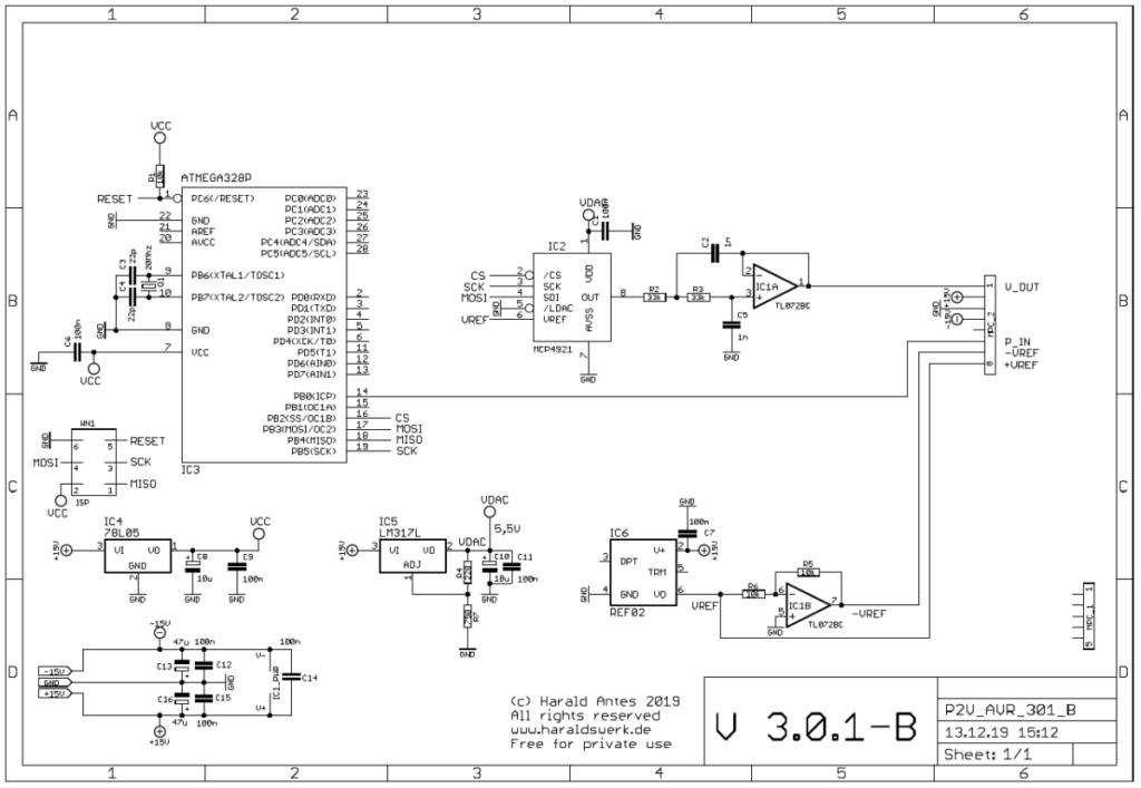 Pitch to voltage converter: Microprocessor board