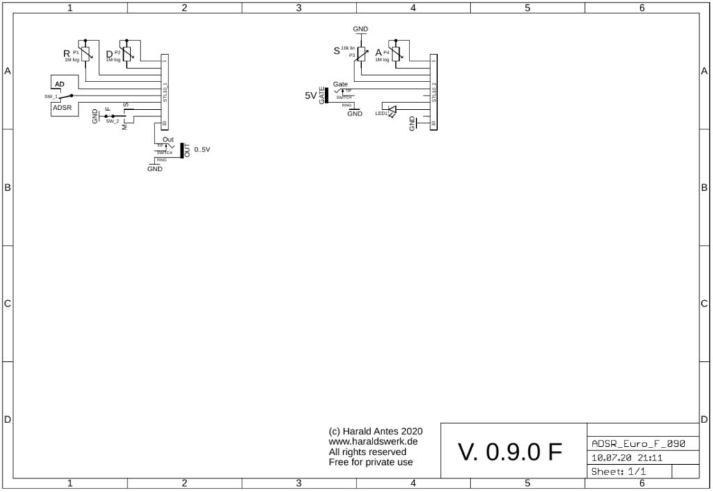 ADSR: Schematic control PCB