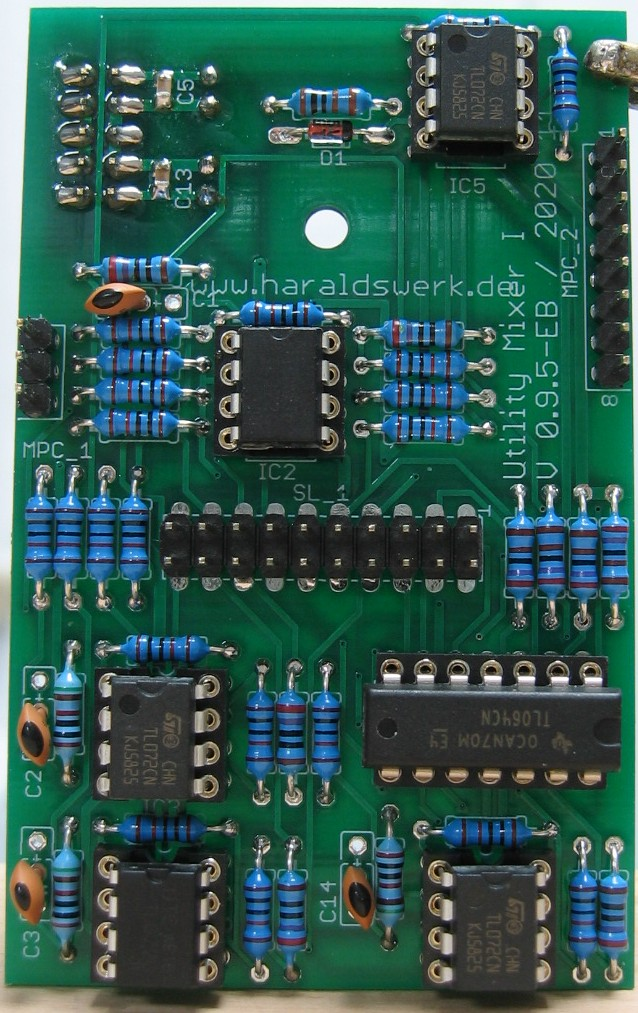 Utility Mixer I: Populated main board