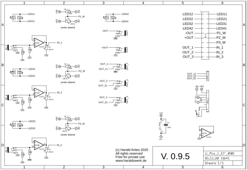 Utility Mixer I: Control board