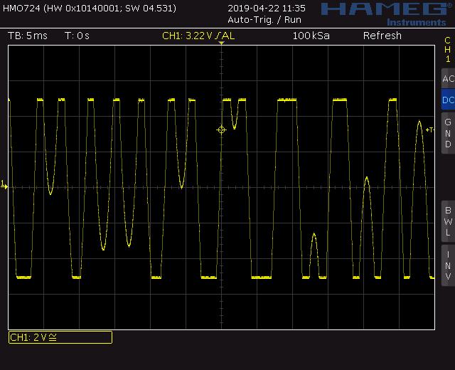 Trapezoid quadrature through zero VCO with waveshapers: Screenshot trapezoid through zero out