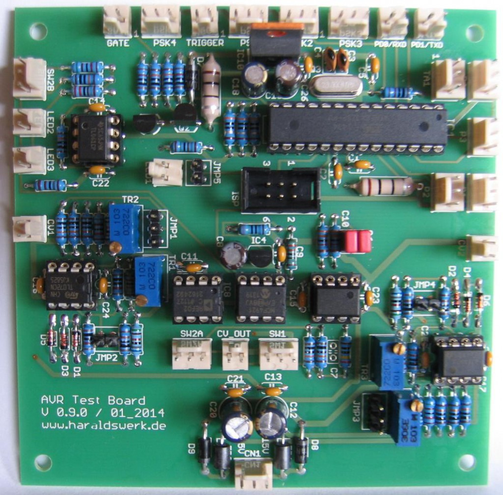 ATMega328p Testboard with MCP4921 PCB