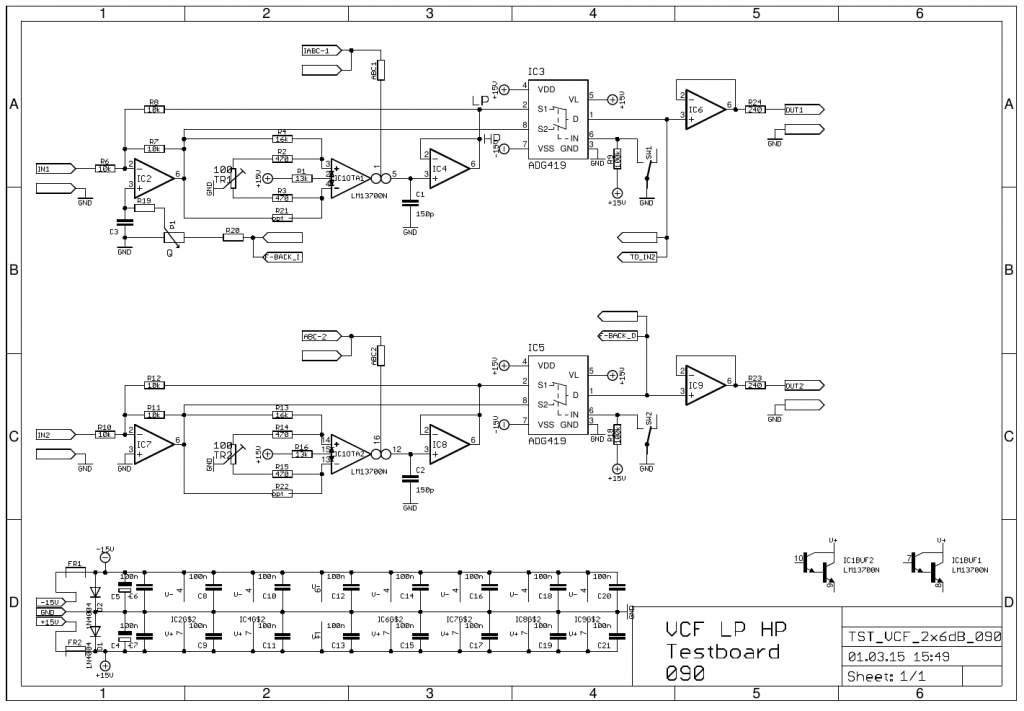 VCF 2x6dB schematic