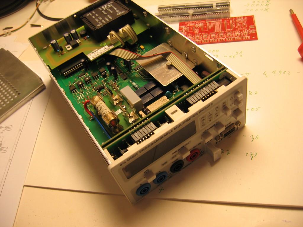 Hameg HN8012 Multimeter lid open