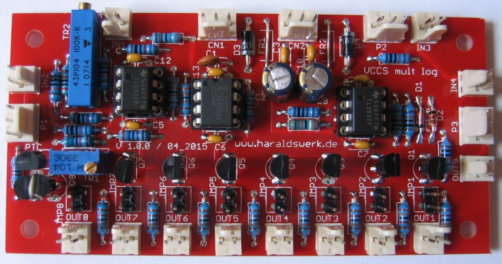 Logarithmic voltage controlled current source