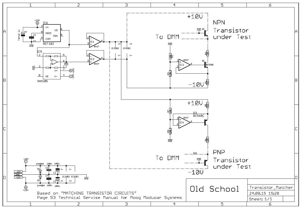 Transistor Matcher schematic