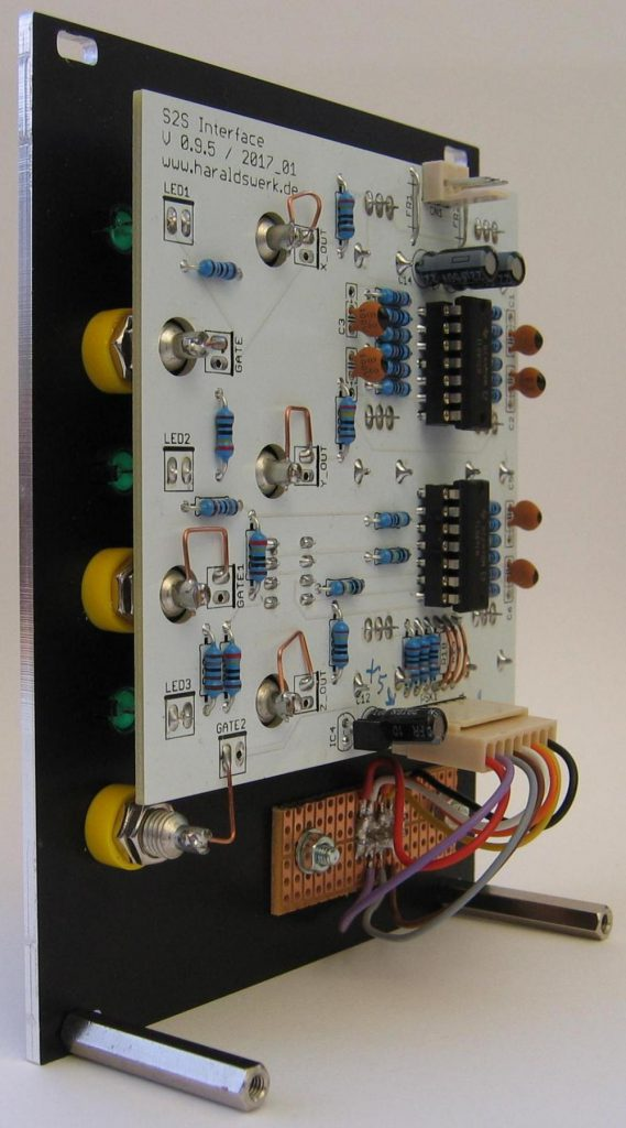 Shakuhachi 2 Synth Project: E-Shak Interface back view