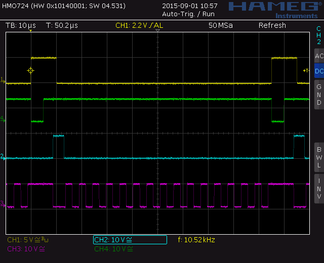 Pitch 2 voltage converter: timing diagram