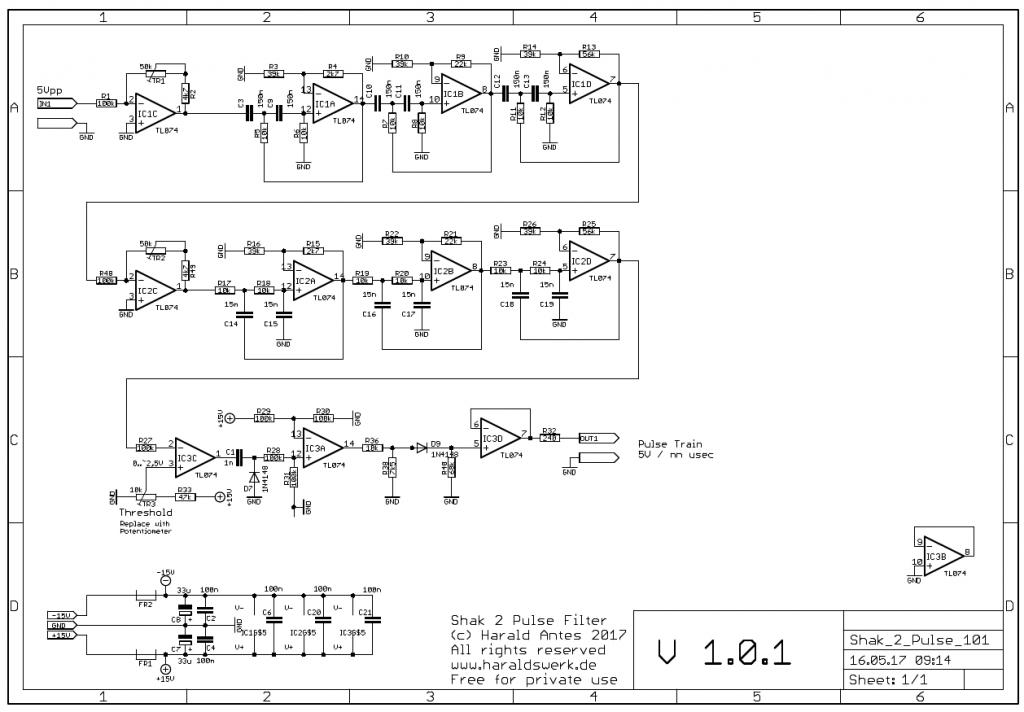 Shakuhachi 2 Synth Project: Shakuhachi 2 pulse schematic