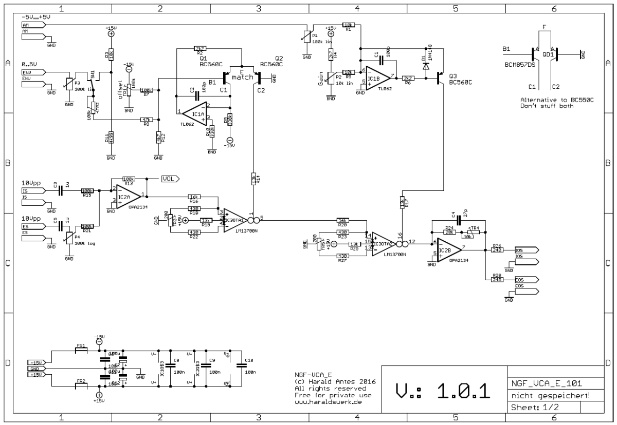 NGF-E Project: VCA schematic