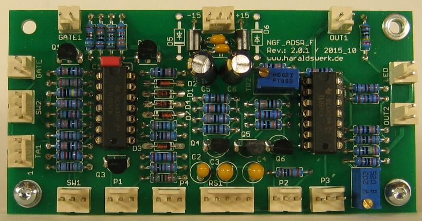 NGF-E Project: ADSR stuffed PCB